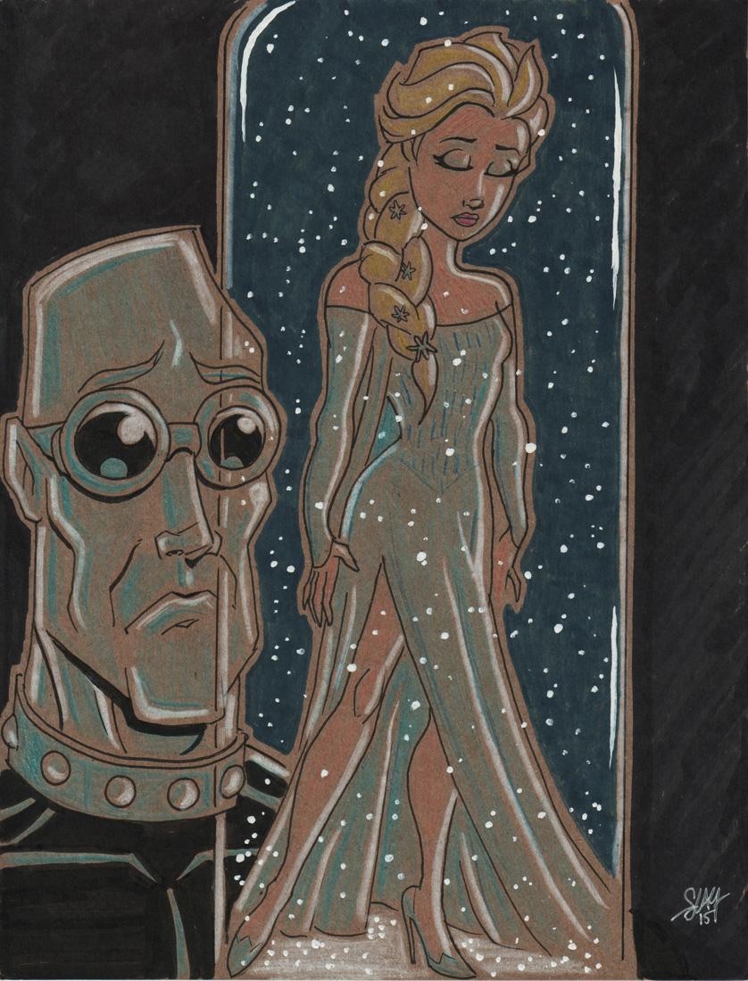 Mr. Freeze / Elsa Mashup by calslayton