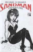 The Sandman - Death Sketch Cover by calslayton