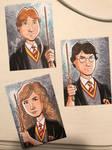 Harry Potter Sketch Cards by calslayton