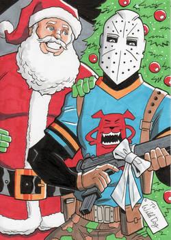 Wild Dog and Santa Claus