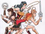 Charlie's Angels - Zena, Wonder Woman, and She-Ra