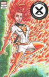 White Phoenix Resurrection Sketch Cover by calslayton