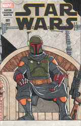 The Book of Boba Fett Sketch Cover by calslayton
