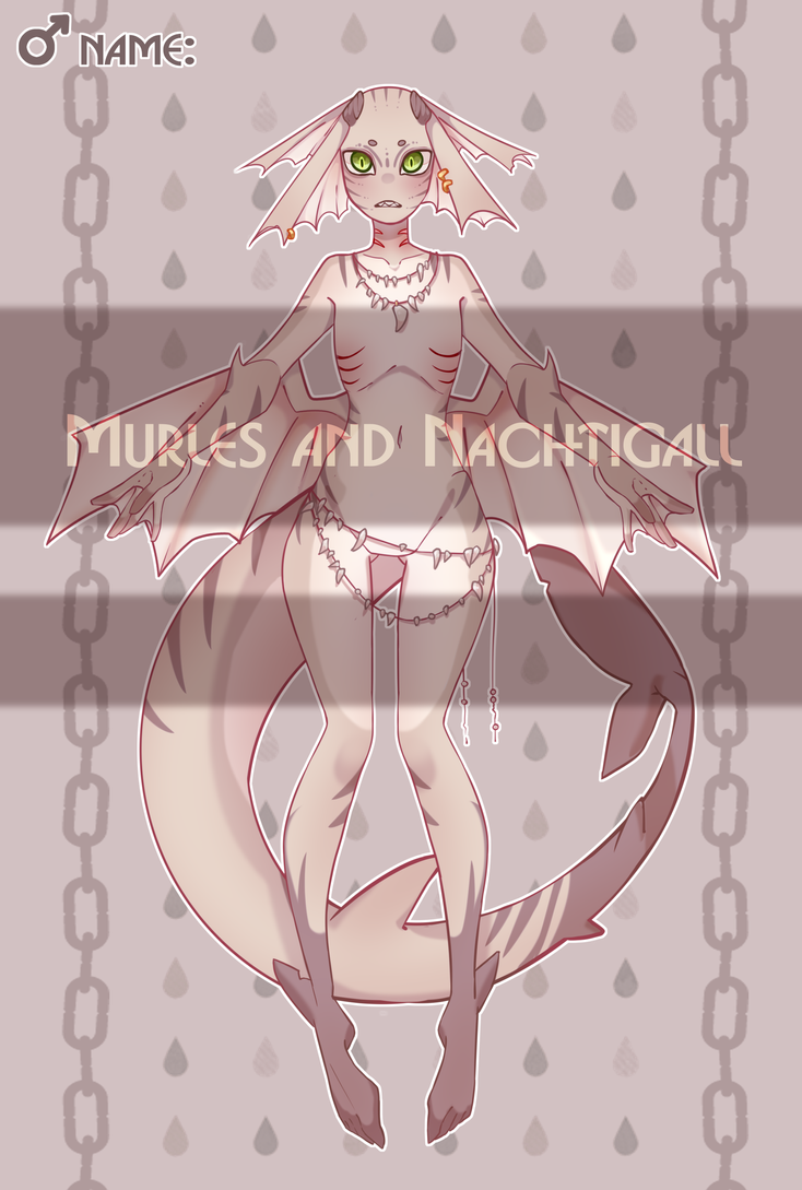 SHARK GIRL ADOPTABLE (SOLD) by NachtigallSoSad