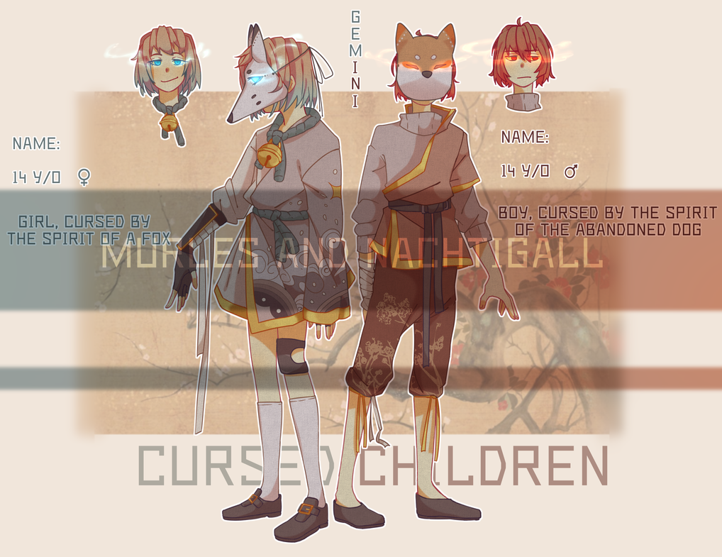 CURSED CHILDREN ADOPTABLE (SOLD) by NachtigallSoSad