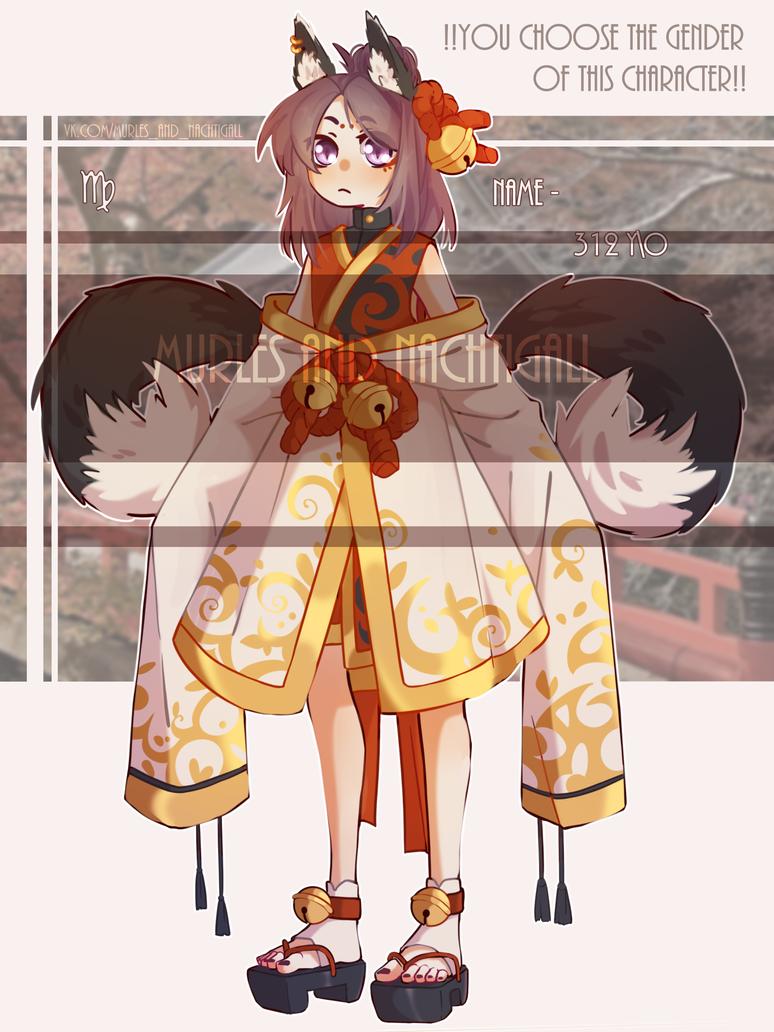 Kitsune adoptable (SOLD) by NachtigallSoSad