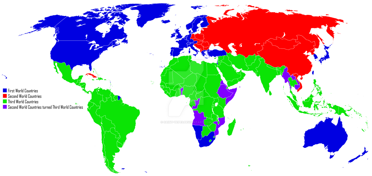 Cold War Map First World Second World 3rd World By Saint Tepes On