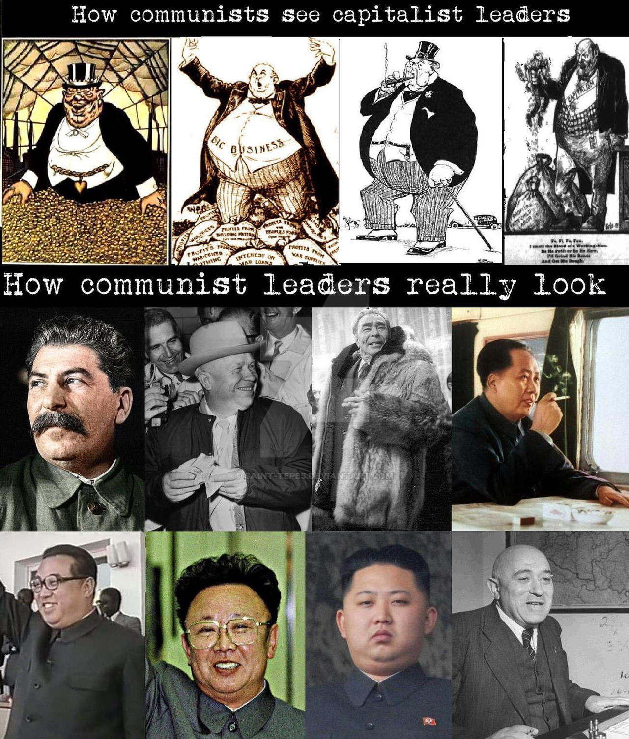 Communist leaders and capitalists by Saint-Tepes