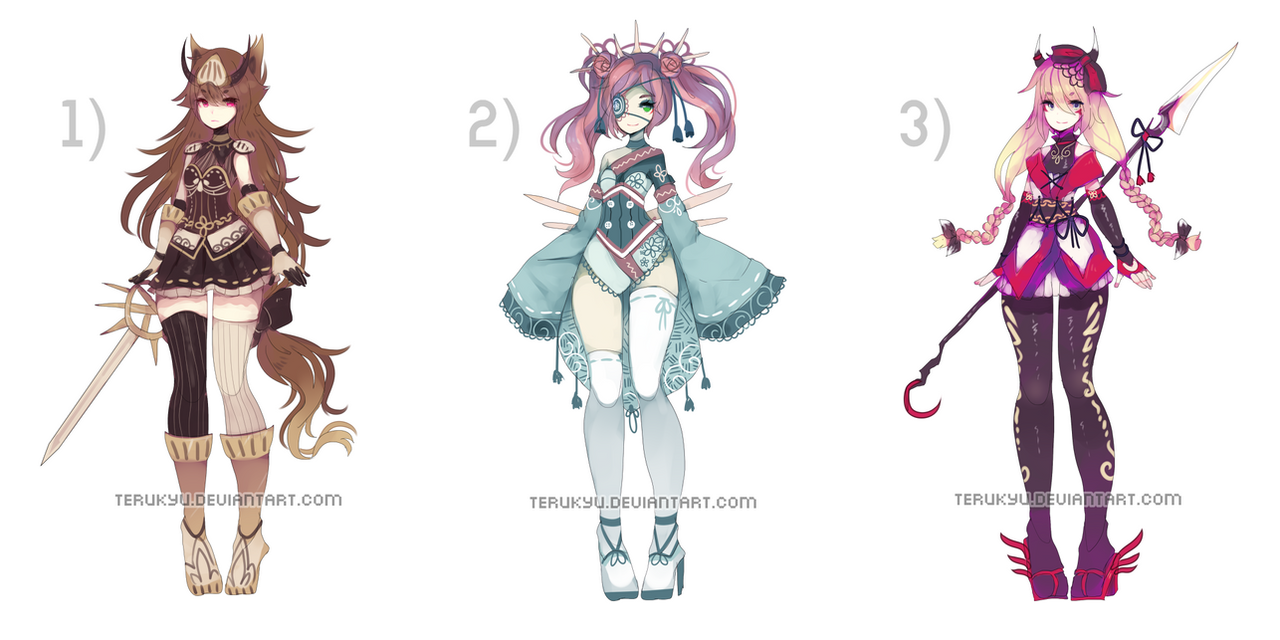 (Paypal) Adoptable Set - CLOSED by terukyu