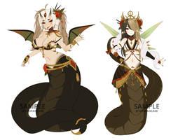 Paypal | Snake girl Adoptable Set | CLOSED by terukyu