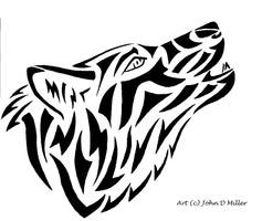 Howling abstract style
