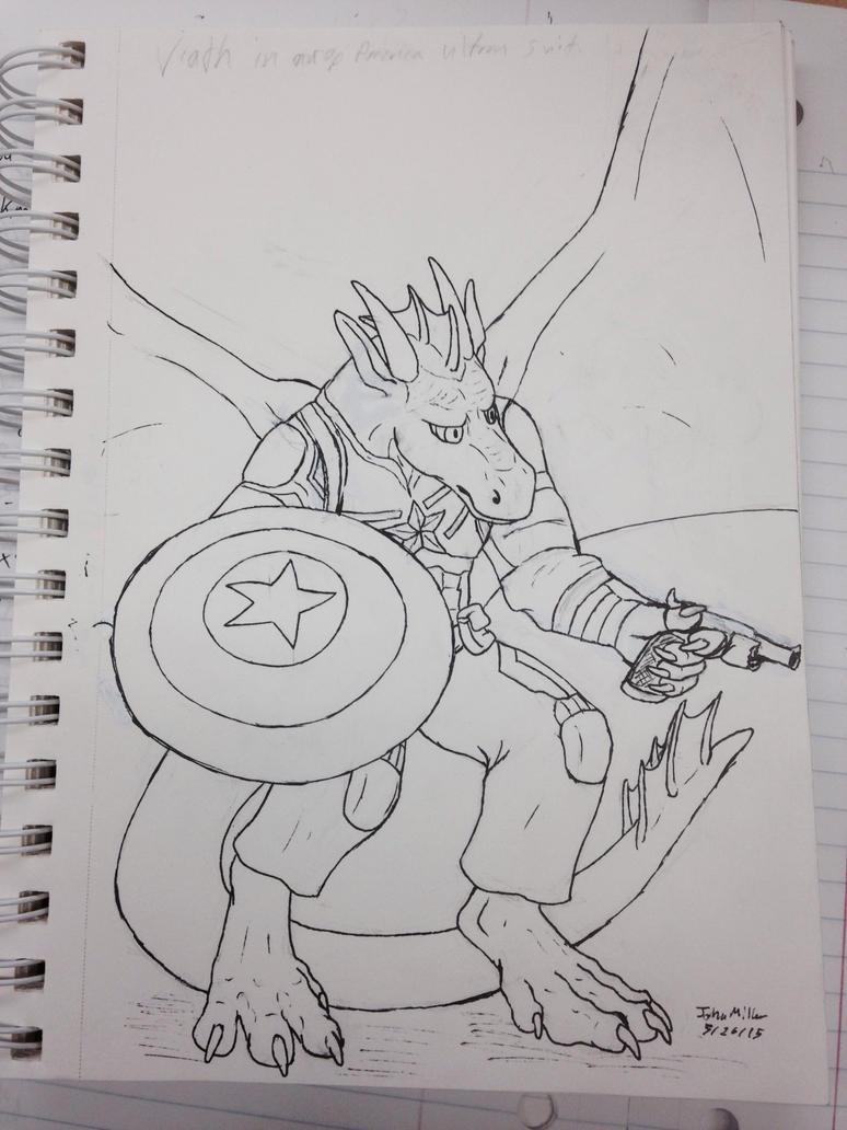 Captain American Dragon by jmillart
