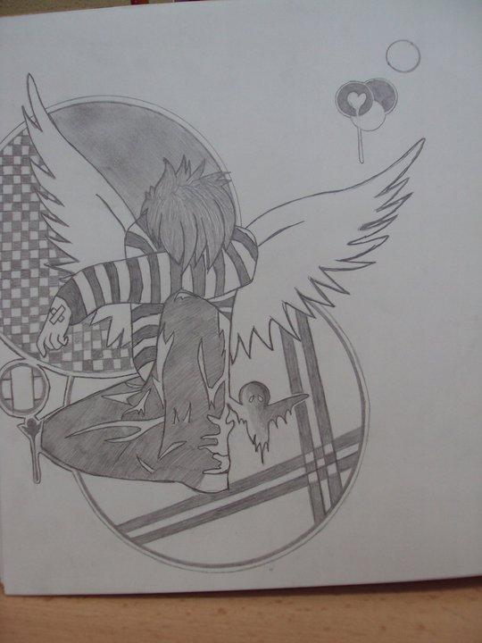 depressed angel drawings - photo #22