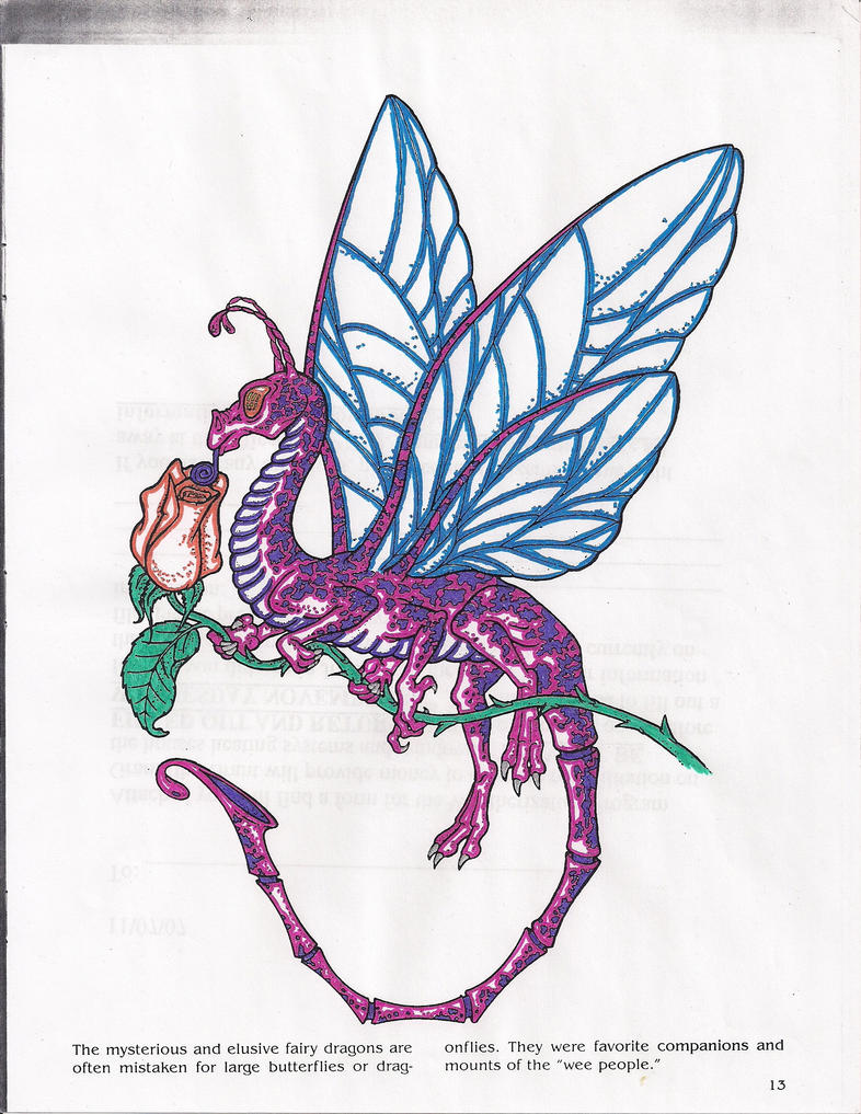 Fairy dragon coloring page 4 by phoenix2890 on deviantart for Dragon and fairy coloring pages