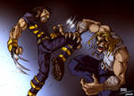 X2 Wolverine VS Sabertooth