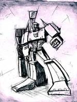 Megatron sketch by dcjosh