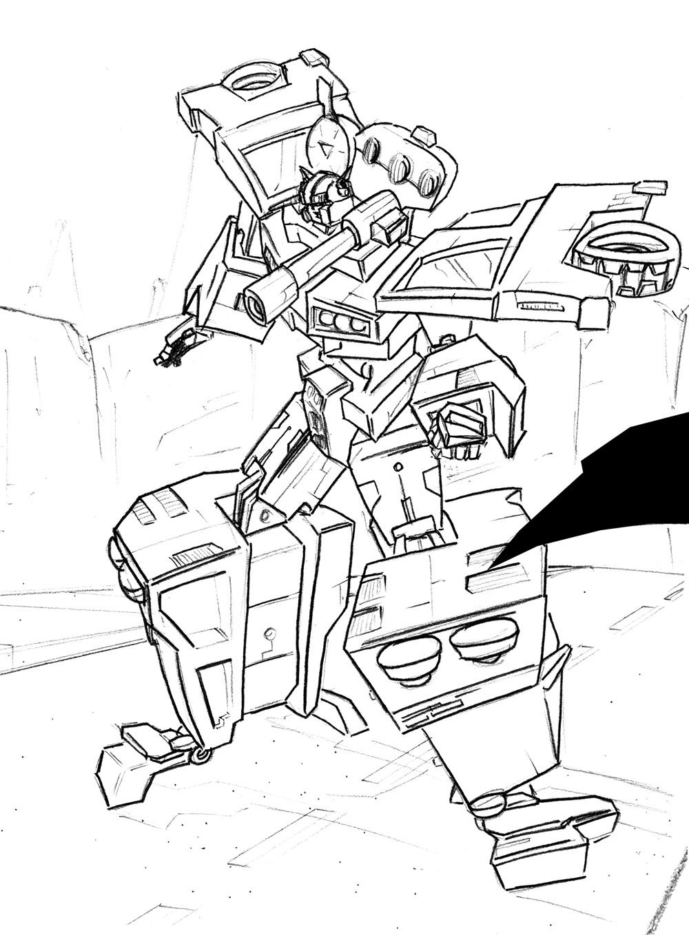 Energon ironhide drawink by dcjosh on deviantart for Ironhide coloring pages