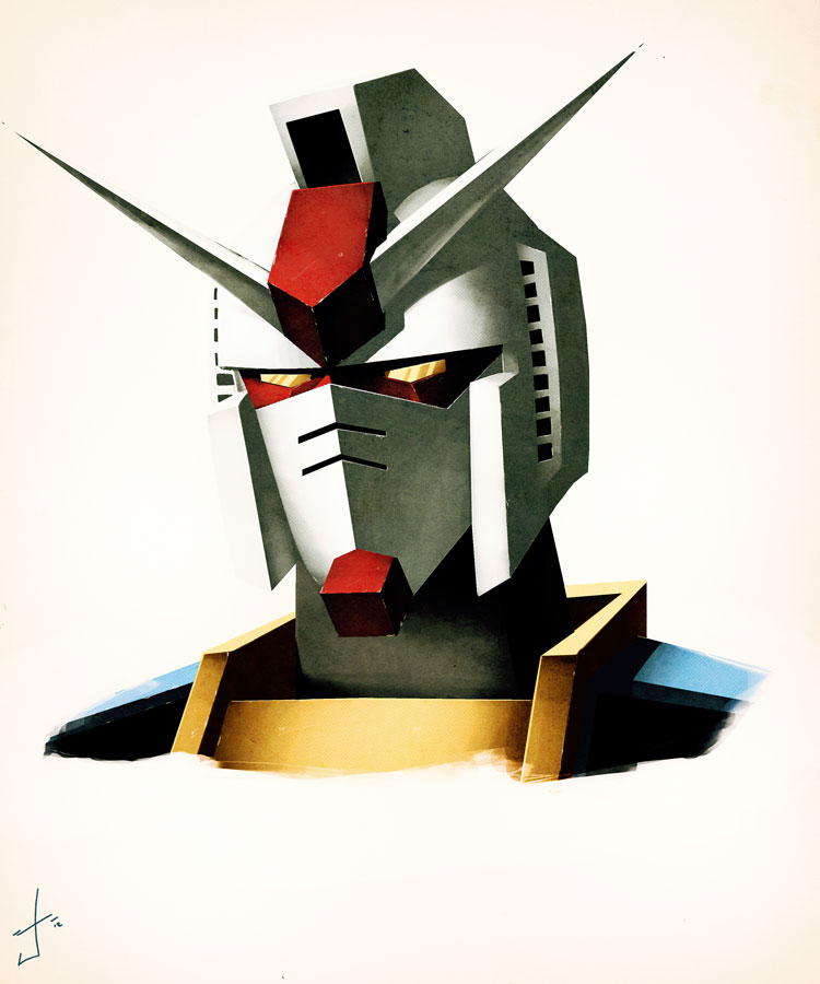 Gundam RX-78 sketchpaint by dcjosh