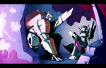 Ratchet and Arcee UNDER ATTACK