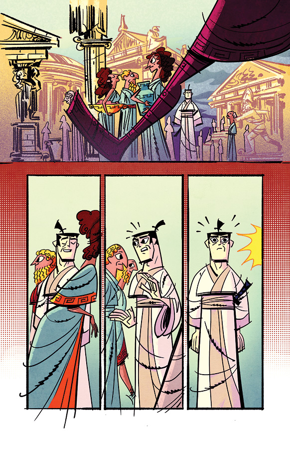 Samurai Jack issue 3 pg3 by dcjosh