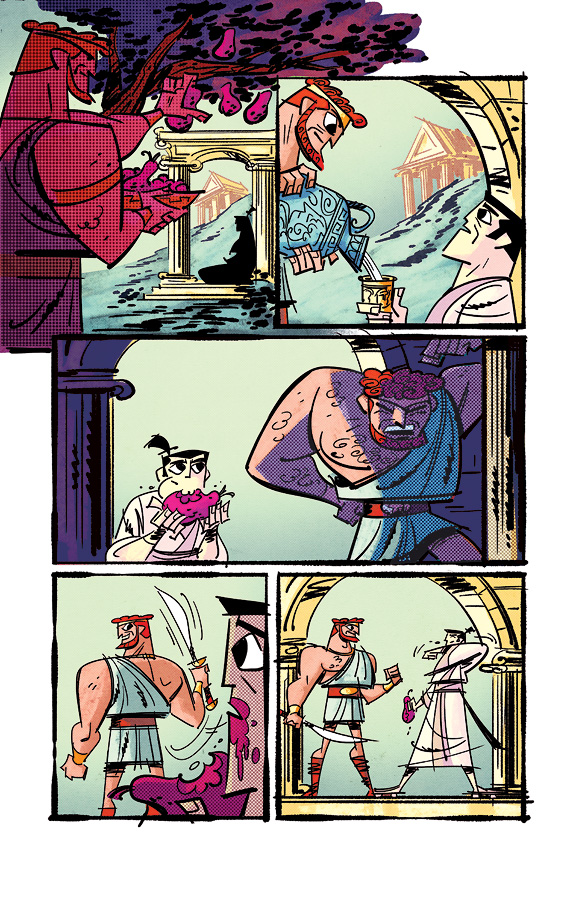Samurai Jack issue 3 pg6 by dcjosh