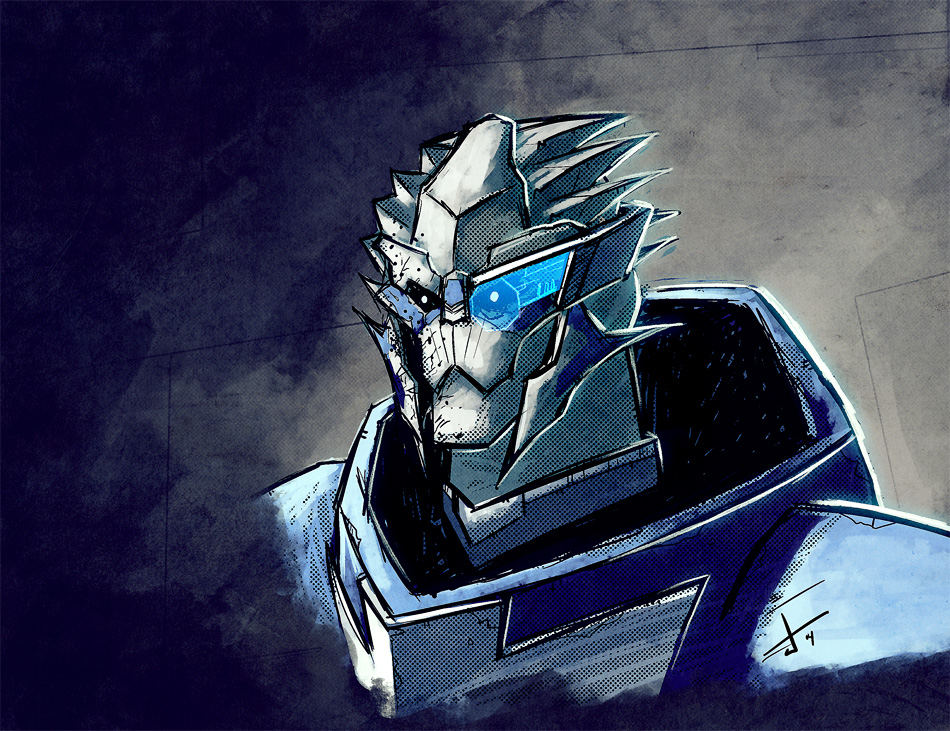 Mass Effect Garrus sketch by dcjosh