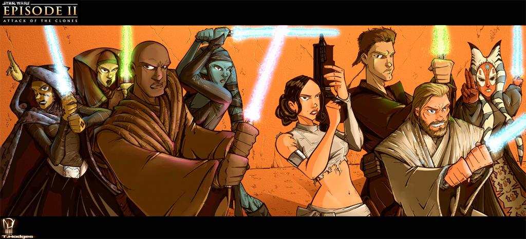 Attack of the Jedi by dcjosh