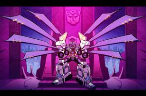 Nova Prime on his throne by dcjosh