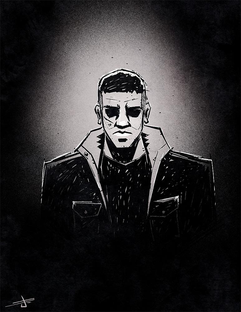 Punisher Sketch by dcjosh