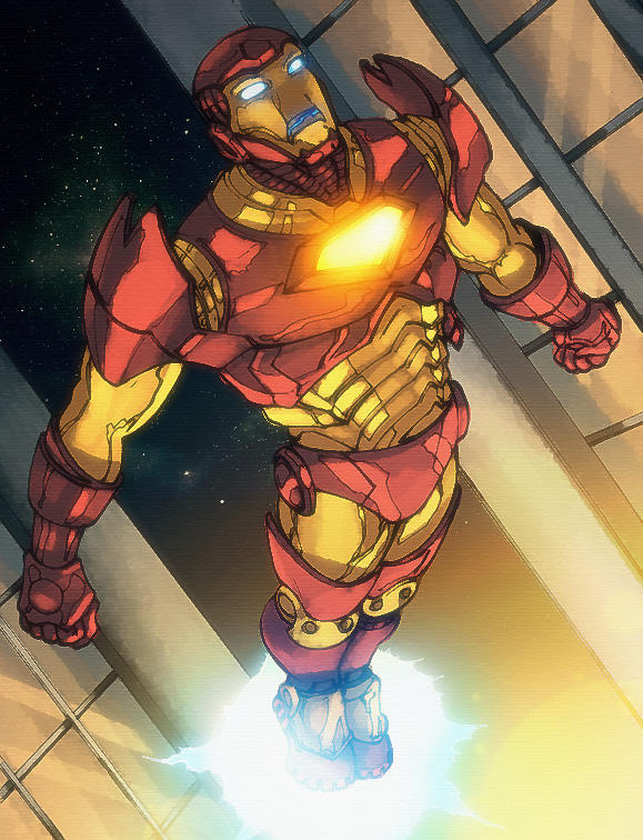 Soaring Iron Man by dcjosh