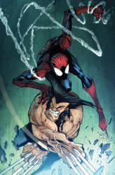 Gordototes Spidey VS Wolverine by dcjosh