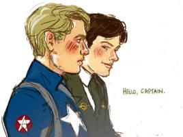 captain america au by ajjizom
