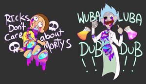 Rick and Morty shirts! (glittergore)