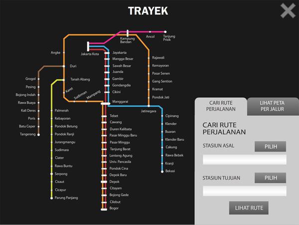 Information Kiosk - KRL Commuter Line Jabodetabek by qessjah