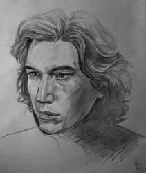 Kylo pencil sketch by MissStreelight