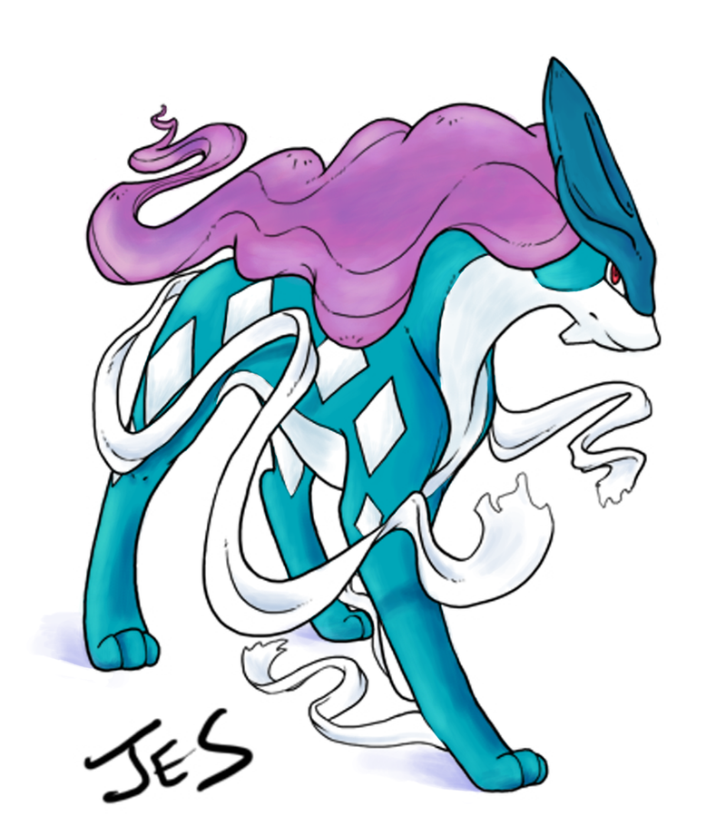 Suicune - Color Practice by ZombieQueen516