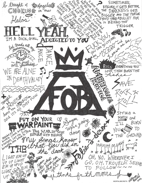 Fall Out Boy Lyric Art by AstridSOS on DeviantArt