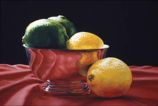 Lemon Lime on Red