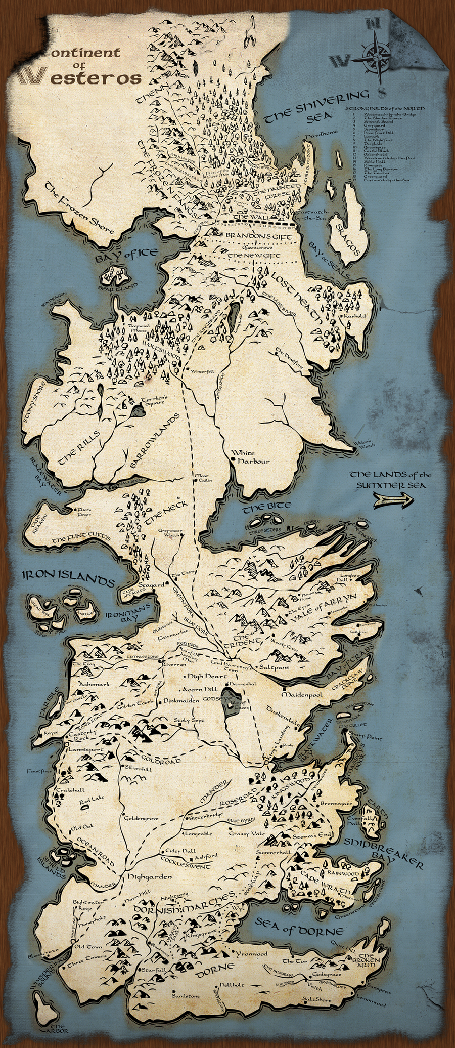 Westeros Map by rmp135