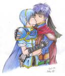 Ike x Marth kiss -colour