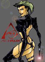 AEON FLUX colored by the-tracer