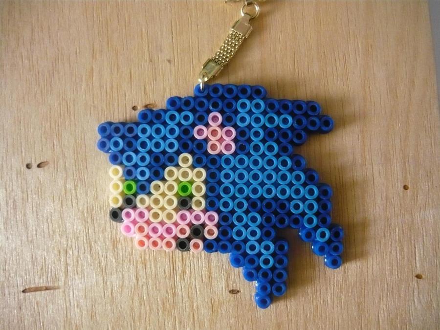 Perler beads sonic by nekroyami