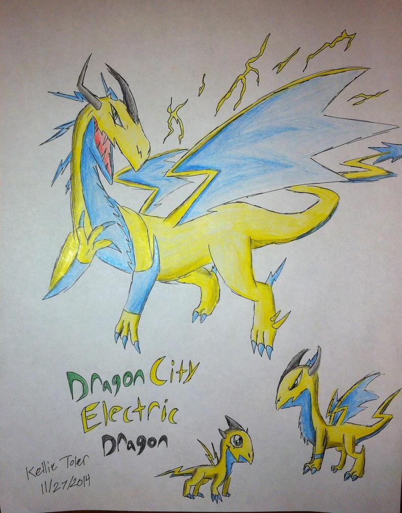 Elegant Dragon City Art 5 Electric Dragon By DragonDrawer102 ...