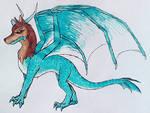 SavageSans the Wolfdragon by DragonDrawer102
