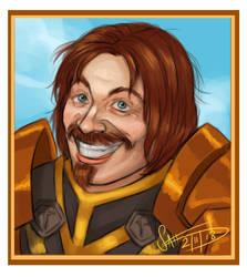 Danny D Tiny Portrait Commission