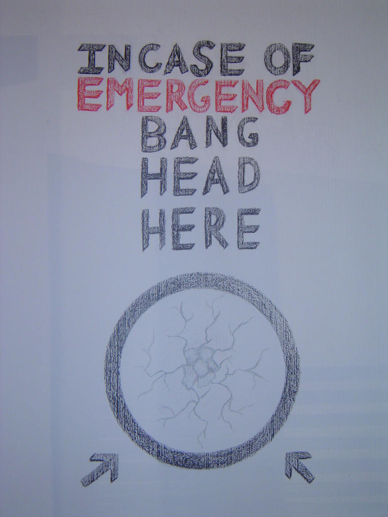 In case of emergency BANG HEAD HERE by Stormlugia