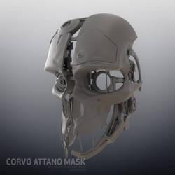 Corvo Attano Dishonored Mask - WIP 01 by mogcaiz