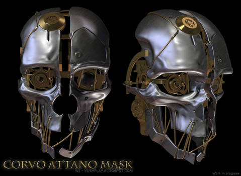 Corvo Attano Dishonored Mask - WIP 02