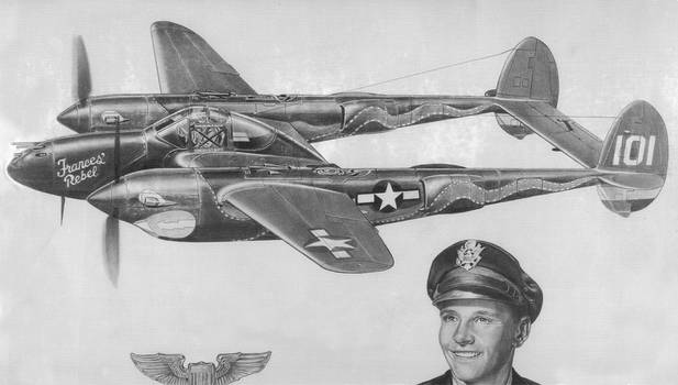 Warplane in pencil