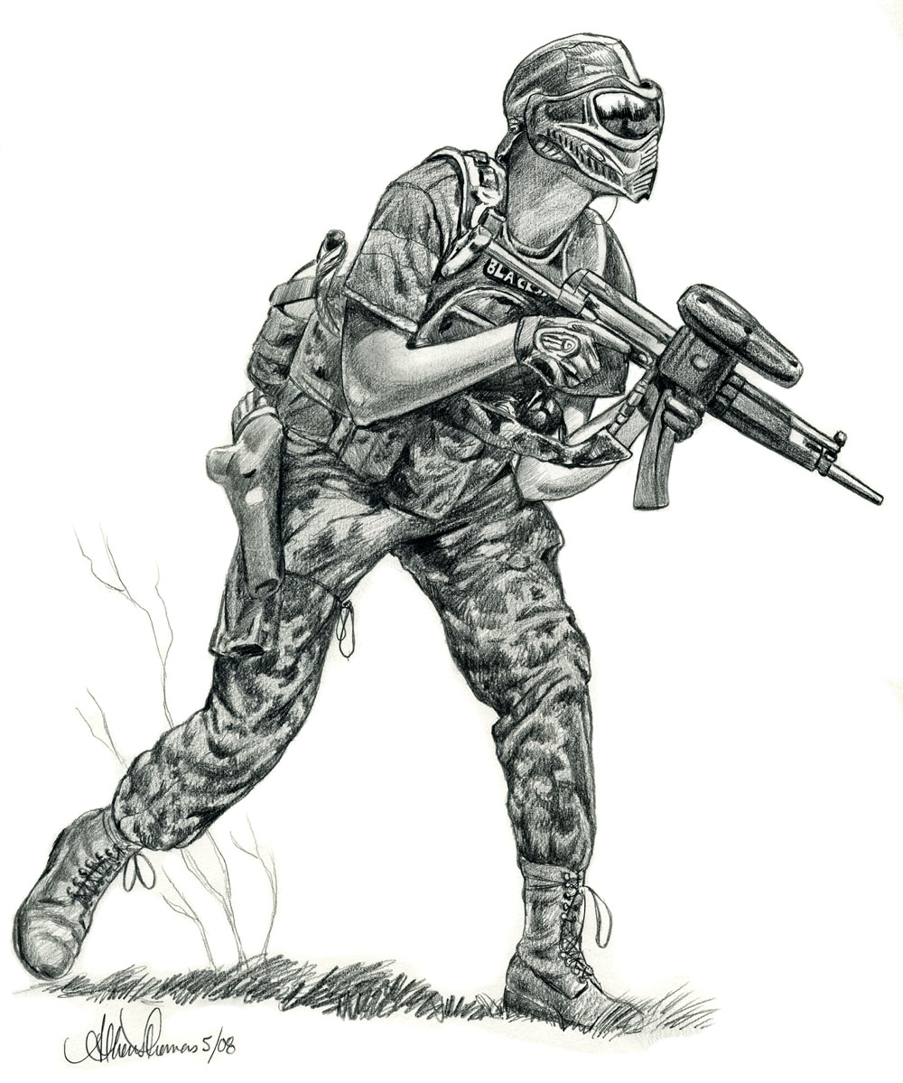 Pix For > Paintball Drawing